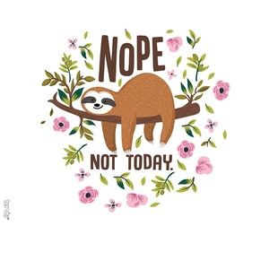 "24oz Tervis Sloth ""Nope Not Today"" Tumbler w/ Lid"